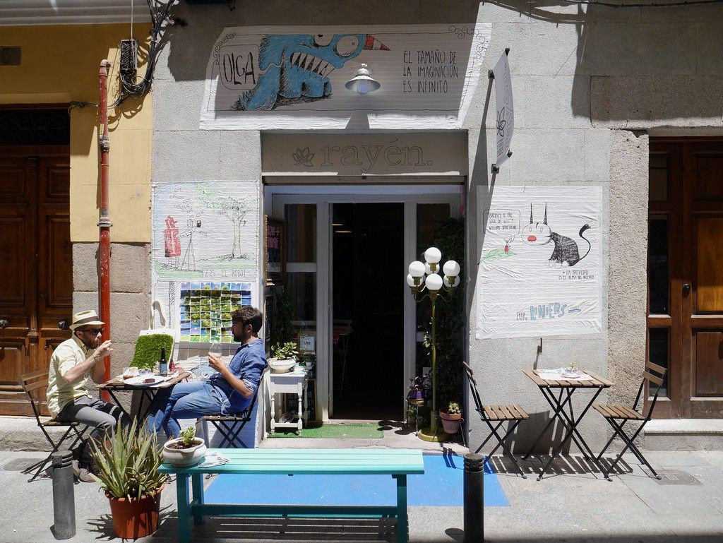 The outside of Rayén Vegano, Madrid - Our Guide To Vegan Restaurants In Madrid