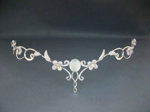 Mae Bridal Tiara Crown Wedding Circlet Celtic Princess Medieval Renaissance Headpiece Headdress