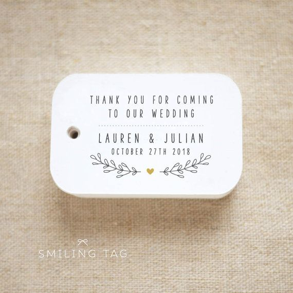 Thank you for coming to our wedding Personalized Gift Tags Wedding