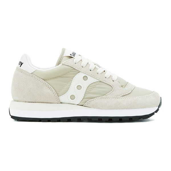 Saucony Women's Jazz Original Trainers - Light Tan ($85) ❤ liked on  Polyvore featuring