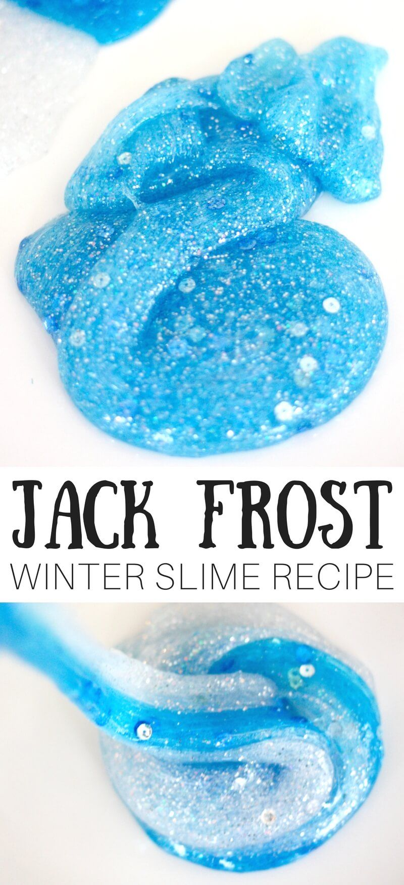 How To Make Winter Slime Recipe Winter Crafts For Kids Winter