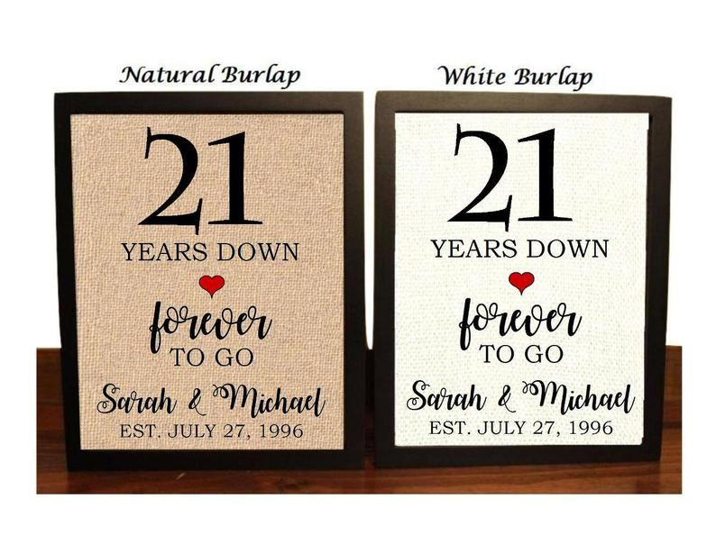 21st Anniversary Gift 21st Wedding Anniversary Gift Gift For 21st Anniversary 21 Years Down Forever To Go 21 Years Of Marriage In 2021 21st Anniversary Gifts 21st Anniversary 12th Anniversary Gifts