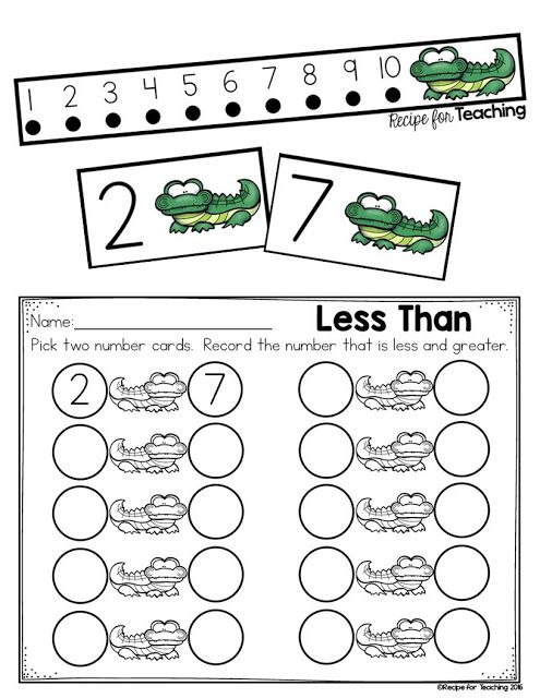 Greater Than and Less Than Alligator Math. FREE resources