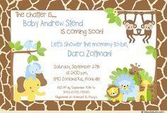 Tarjetas Para Baby Shower Gratis Safari Imagui Baby