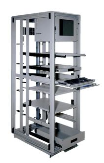 Cruxial Heavy Duty 4 Post Rack Supports 2500 Lbs Static
