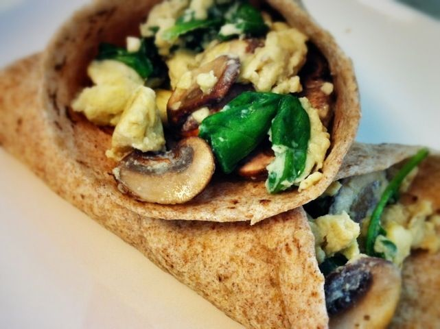 Low Cal Low Cost Starbucks Spinach Feta Wrap Sautee Mushrooms Artichoke Hearts And Spinach In 1 Vegetarian Breakfast Vegetarian Cooking Vegetarian Dishes