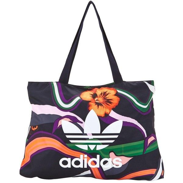 e7f6ac816c Adidas Originals Floral Burst Printed Shopper ( 57) ❤ liked on Polyvore  featuring bags