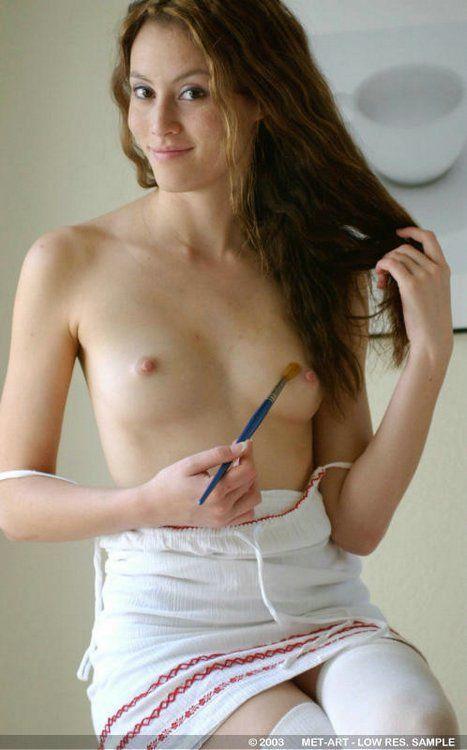 Naked thin women small tits