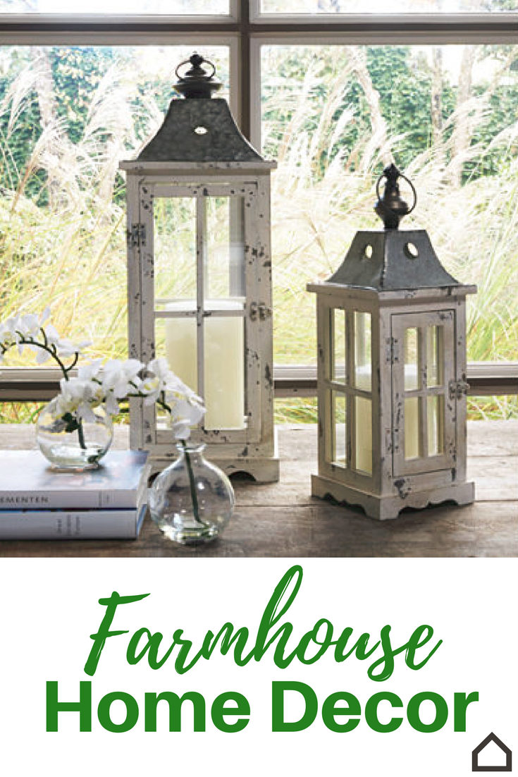Set Of 2 White Romantic Metal Lantern Tree Candle Holders Indoor Home House Deco