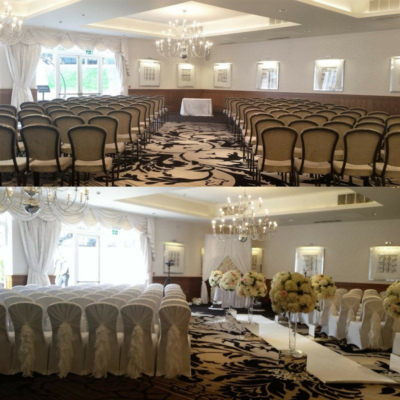 Floral luxe wedding decoration at hotel colessio stirling for Hotel wedding decor