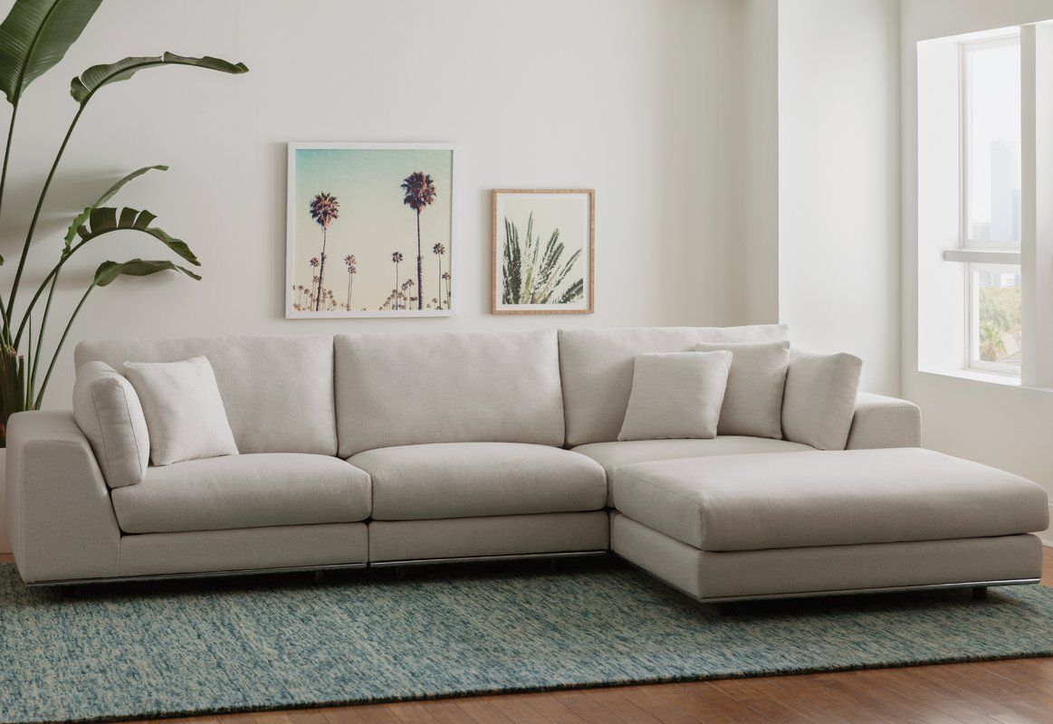 Syd Reversible Sectional Reviews Allmodern Furniture Modern