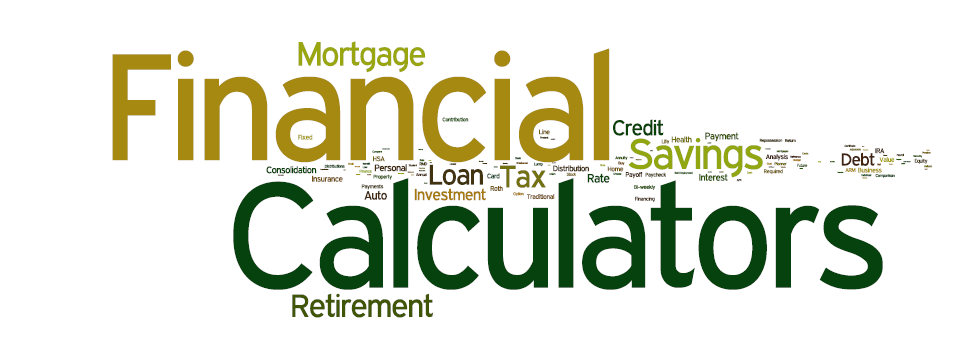 Financial Calculators Wordle Mortgage Amortization Calculator