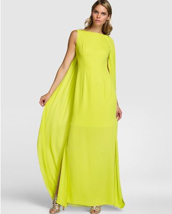 Vestido largo de mujer Elogy Colección Juanjo Oliva en verde