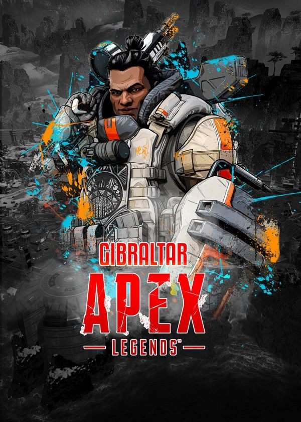 "Apex Legends Splatter Characters Gibraltar #Displate explore Pinterest""> #Displate artwork by artist ""Aohiro Art"".… 