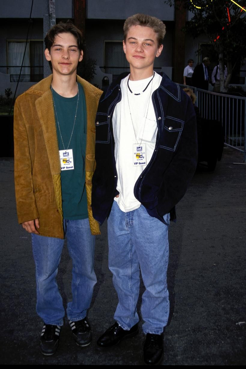 Leonardo Dicaprio and Tobey macguire when they were teens
