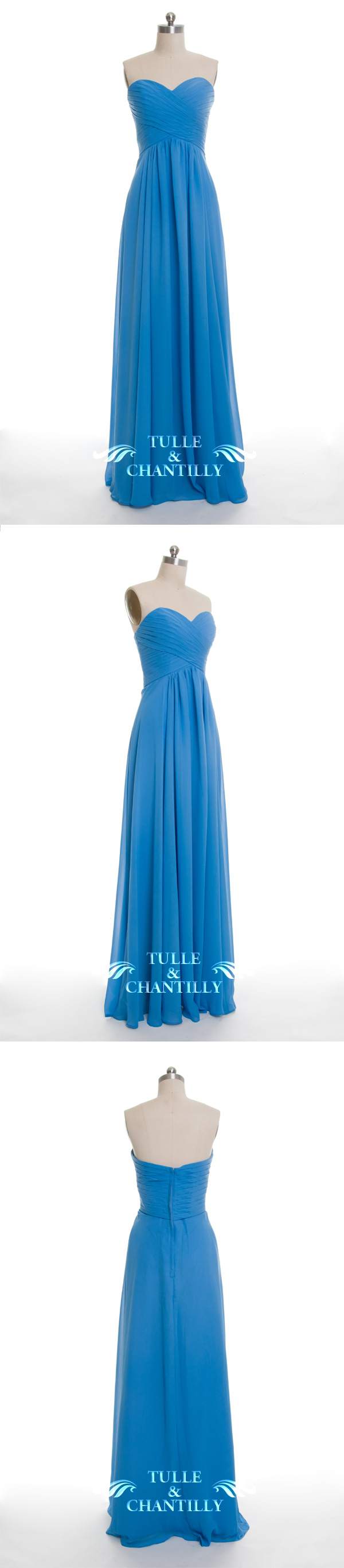 Long sweetheart strapless bridesmaid dress tbqp themed weddings