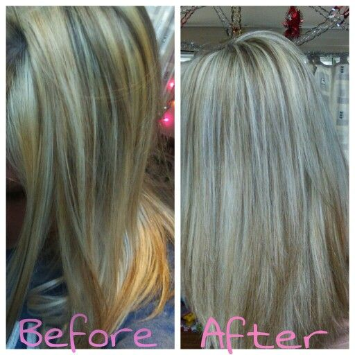 Homemade Hair Toner To Cancel Out Yellow Tones From Bleaching Mix