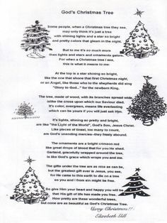 Short Christmas Tree Poems