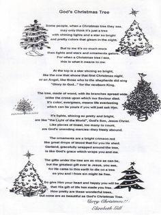 Christmas Poem God S Christmas Tree Christmas Tree Poem Christmas Poems Christmas Devotional