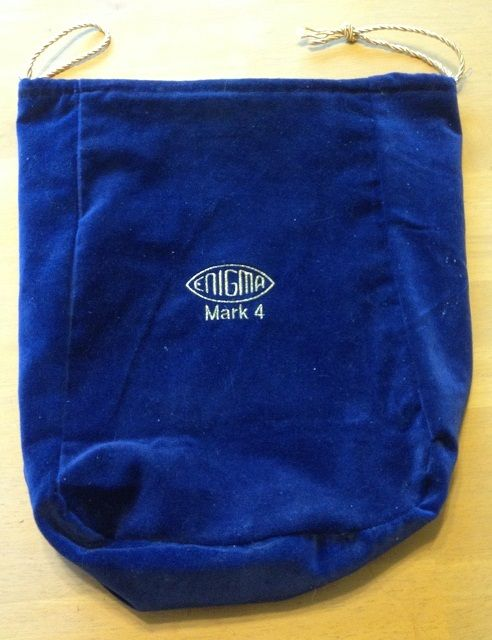Velours Bag for Enigma Machine Replica - Color may vary