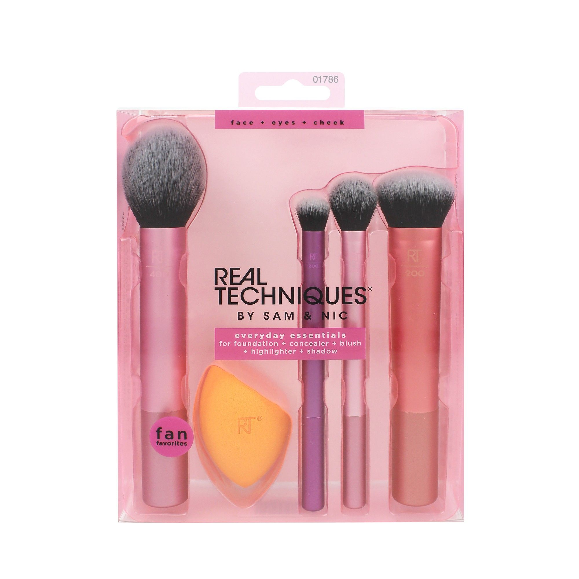 Real Techniques Everyday Essentials Brush Kit Real
