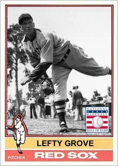 Lefty Grove Boston Red Sox My Custom Baseball Cards Pinterest
