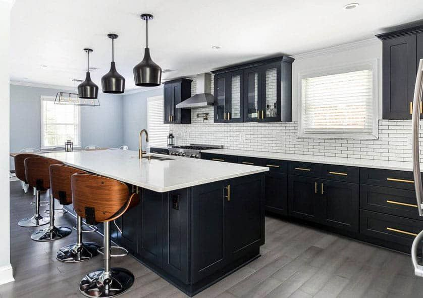 30 Black And White Kitchen Design Ideas In 2020 Small Kitchen Cabinet Design Black Kitchen Cabinets Black Kitchens