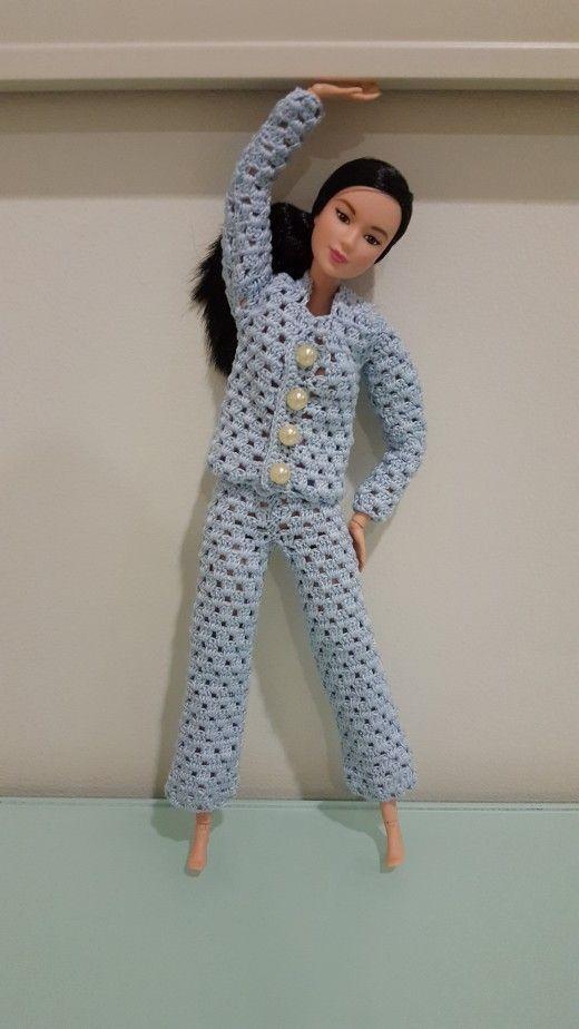 Barbie Pajama Set (Free Crochet Pattern) | Barbie, Muñecas y Cosas ...
