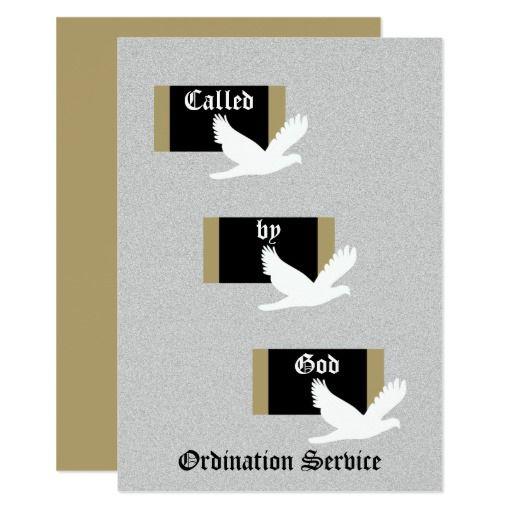 Church Ordination Invitation Called By God Ordination Invitations