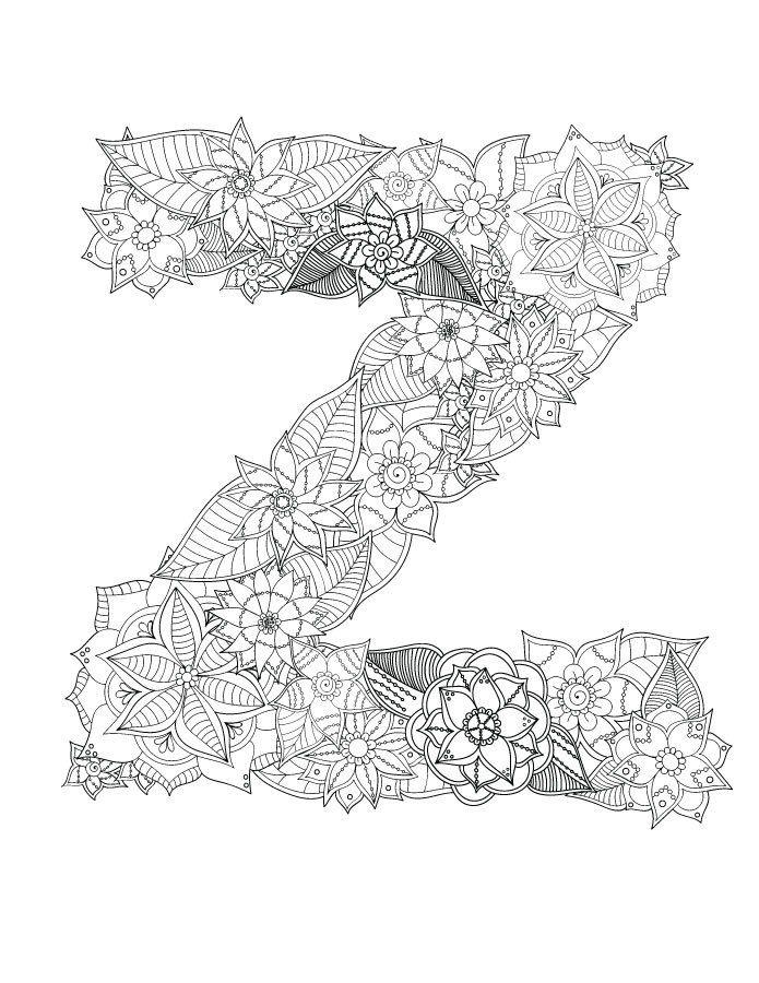 Jeux Coloriage Alphabet.Typographie Jeux De Coloriage Tres Difficile A Imprimer Alphabet A