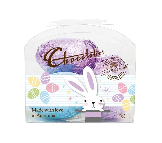 EAS248 - The Chocolatier Easter Eggs Mini Gift Pack New contains 8 units per box with a weight of 75g.