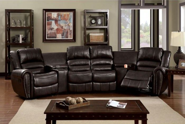 Theater Sectional Reclining Sofa Home Design Ideas