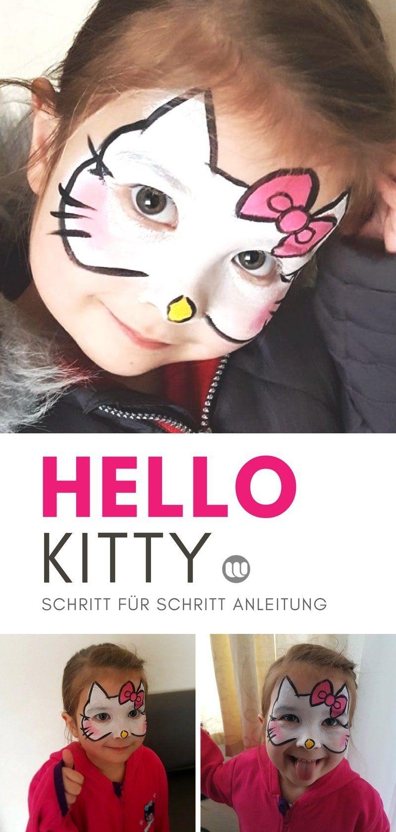 Hello Kitty Katzengesicht schminken #katzengeburtstag