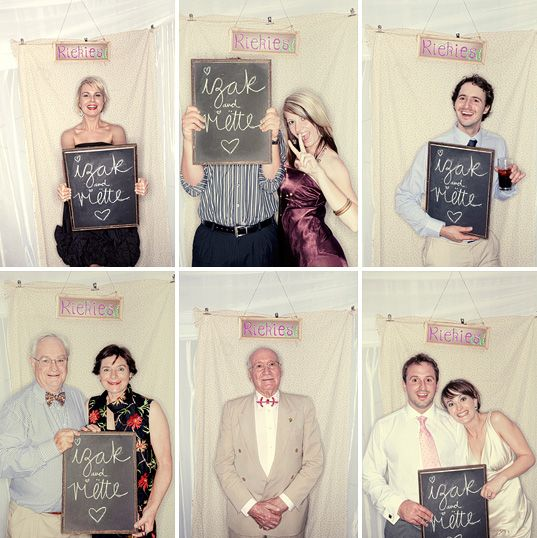 Personalize a mini chalkboard for photo opportunities. Photo: Welovepictures