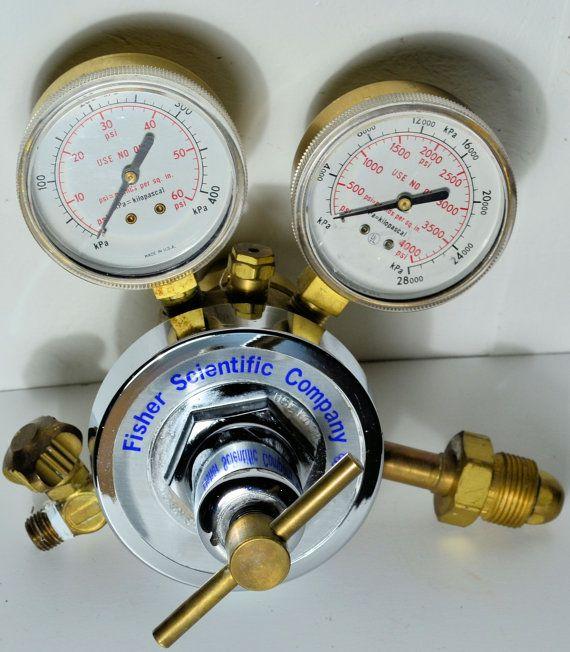 Fisher Scientific Pressure Gauge Gas Regulator PSI Steampunk