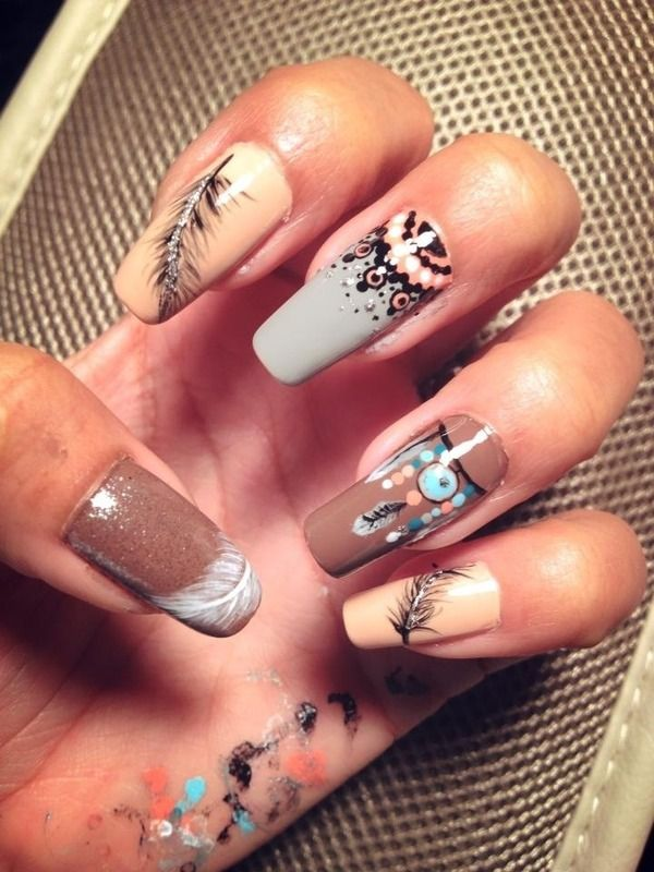 American Indian #cherokeepride #Blackfoot Indian Nail Designs, Indian Nail  Art, Nail Art - American Indian #cherokeepride #Blackfoot Claws Pinterest