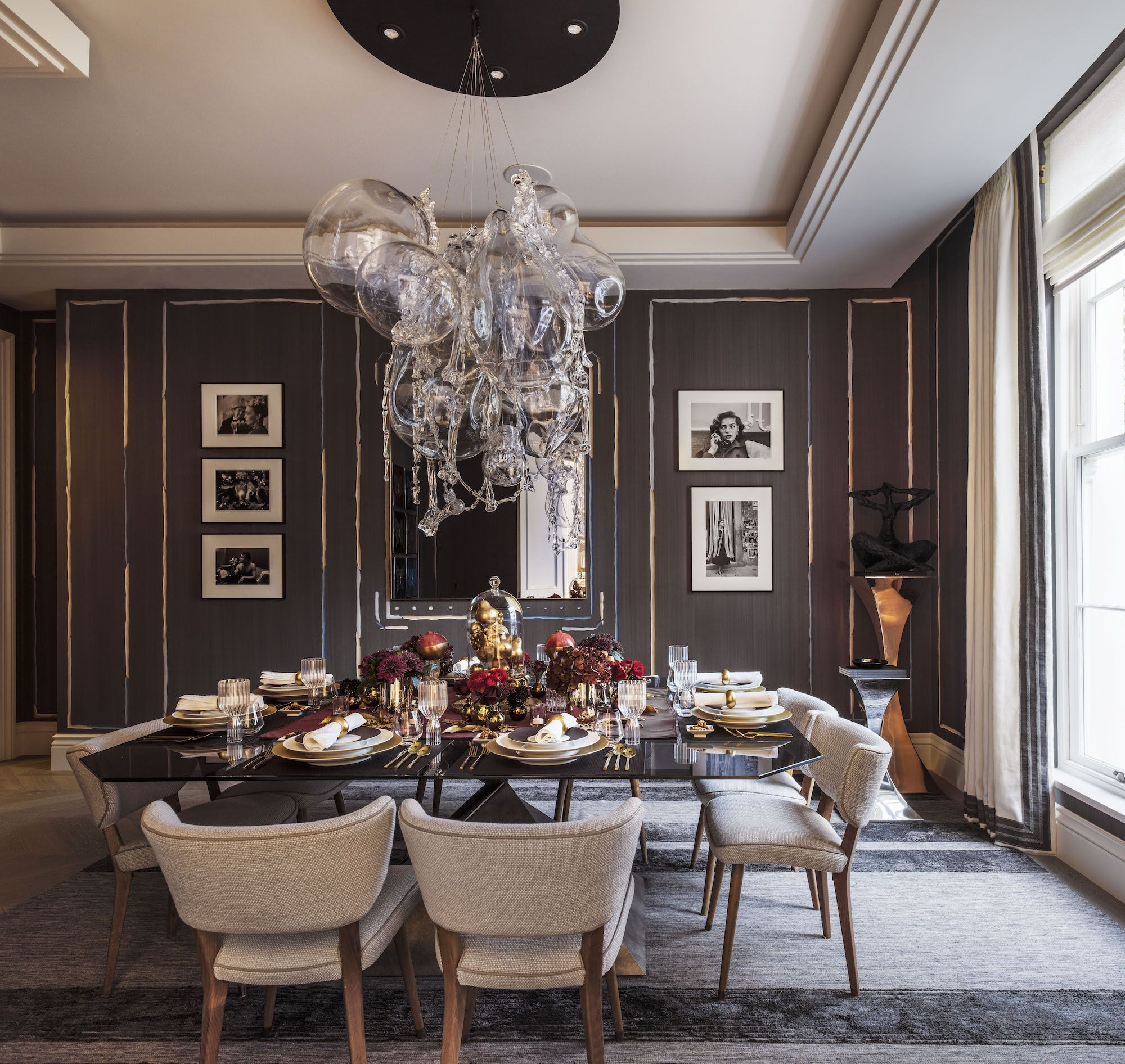 Holiday House London Spans Two Breathtaking Properties  Square Amazing Walk Through Dining Room Decorating Inspiration