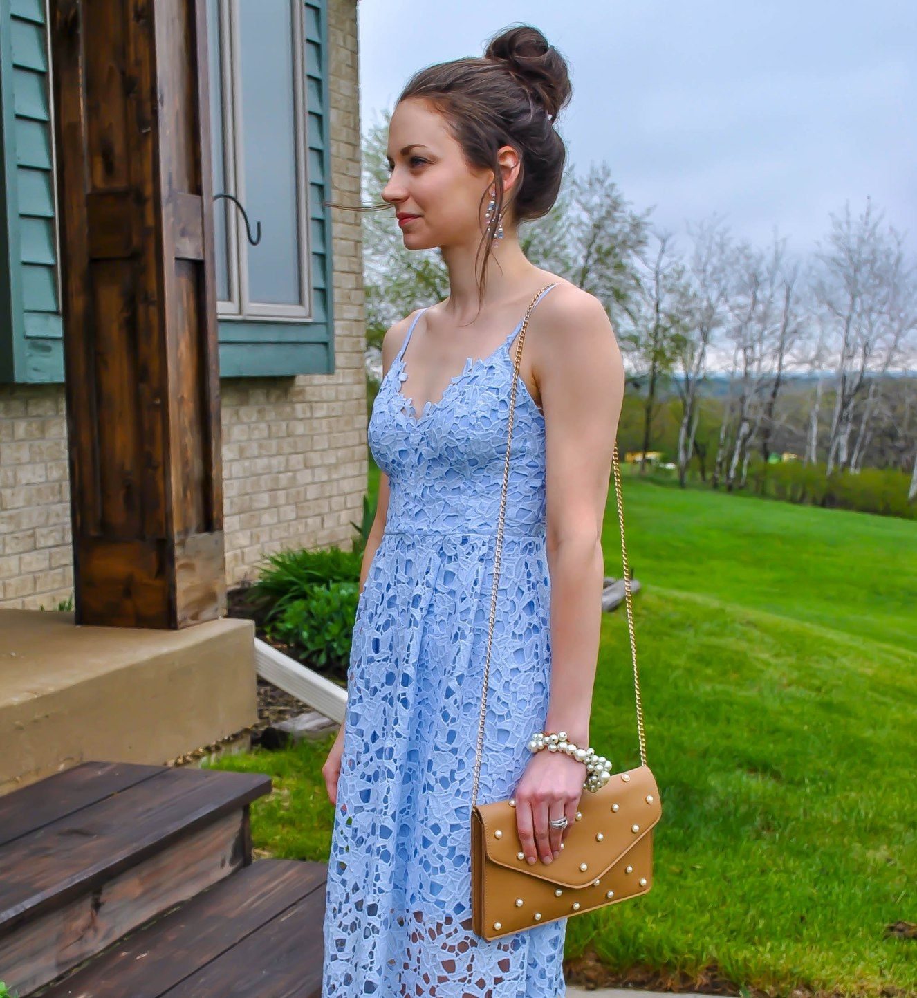 a8b7cdee544d ASTR The Label Lace Midi Dress Petite Review  Wedding Guest Attire Roundup