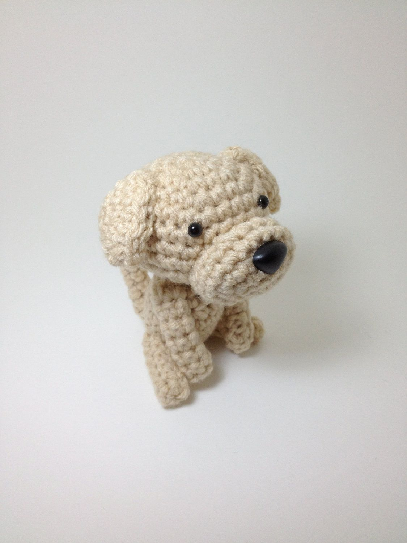 Handmade Amigurumi Dog from Etsy. This shop has the cutest crocheted doggies!