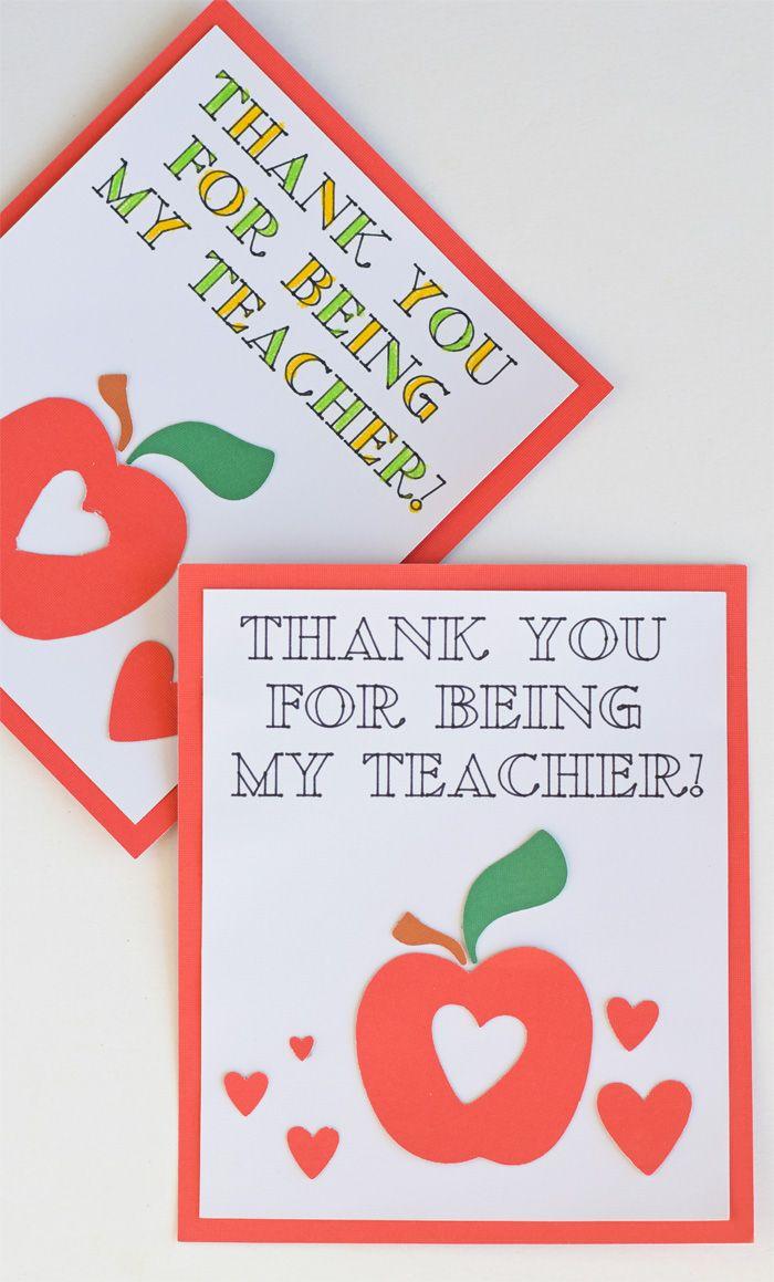 colorable teacher appreciation cards made with a cricut