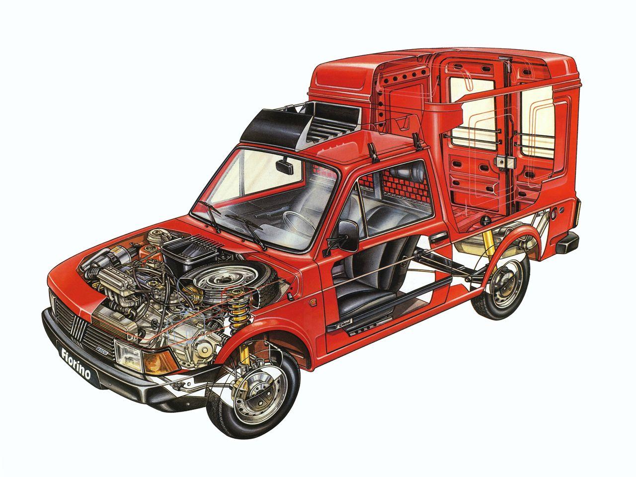 1983-1987 Fiat Fiorino - Illustration unattributed
