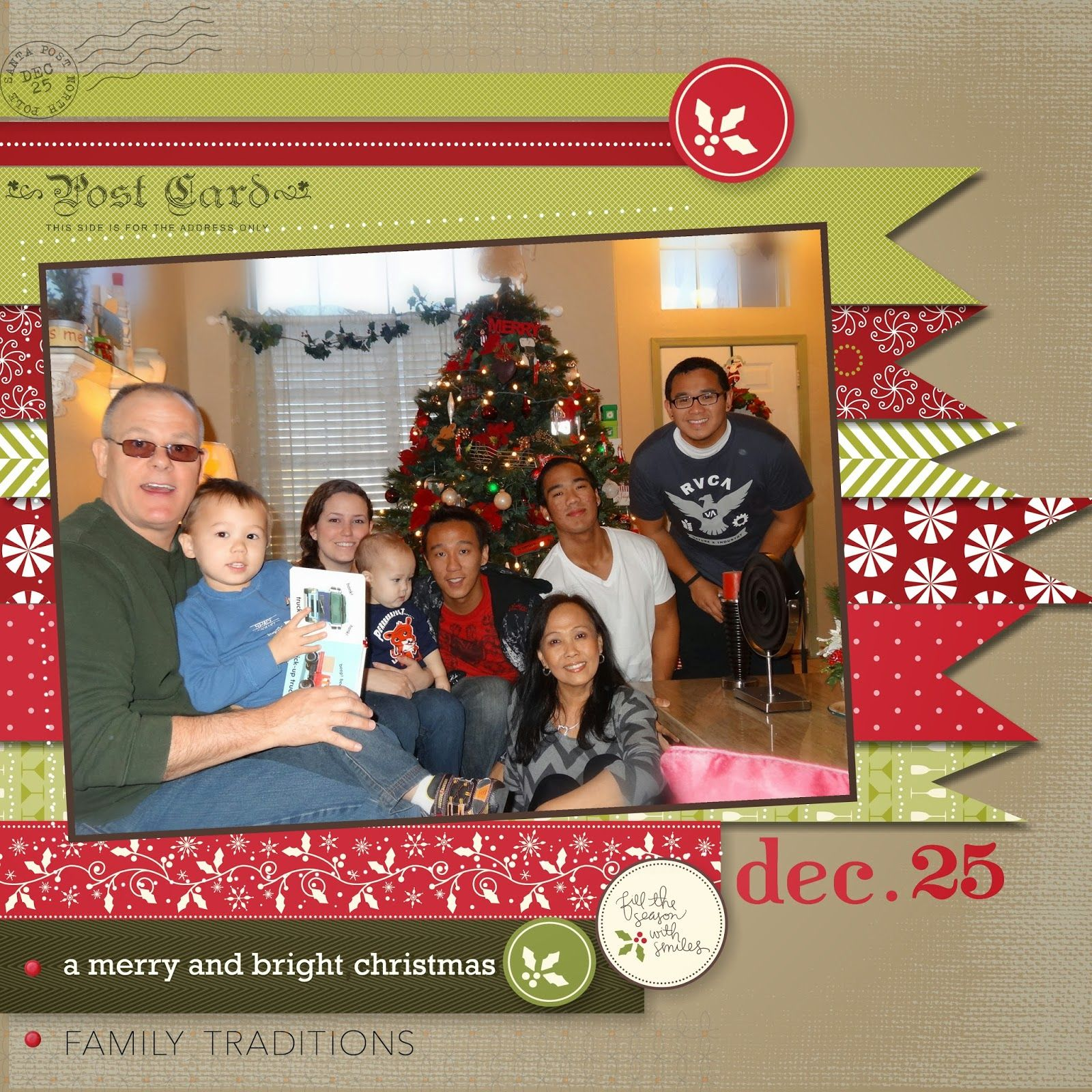 Me, My Stamps and I   Christmas Scrapbook page