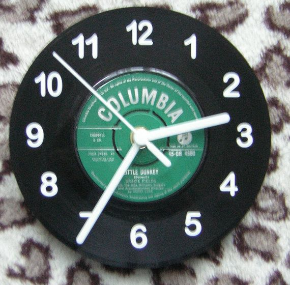 Columbia Green 7 Vinyl Wall Clock by Klicknc on Etsy