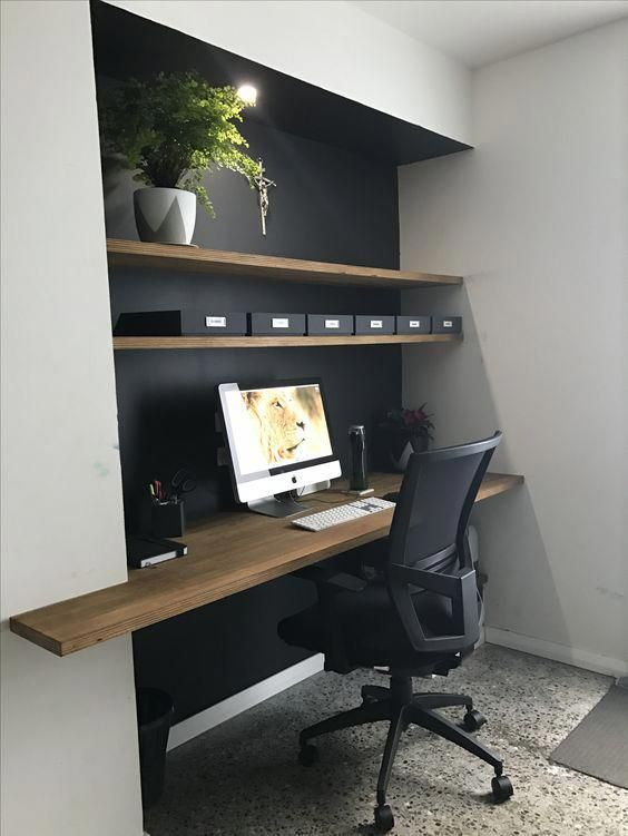 Contemporary Home Office Design Ideas A Tiny Home Office Might Benefit From Having Fitted Furni Contemporary Home Office Home Office Design Home Office Decor