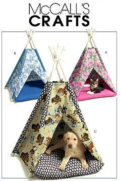 Pet Tee Pee Tent Sewing Pattern Dog Cat Pets Animal Tents Teepee