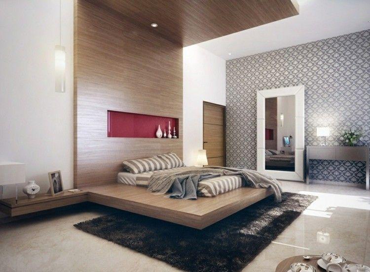 Holzwand Im Modernen Schlafzimmer   Ein Echtes Eyecatcher