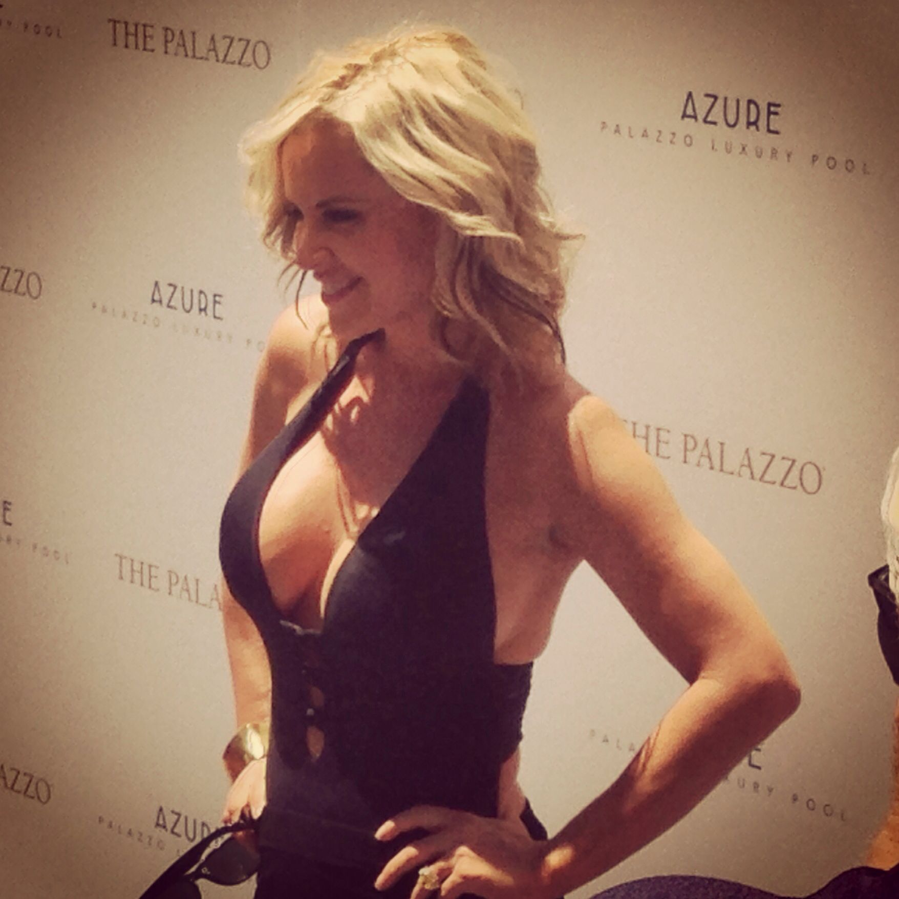 Jenny McCarthy at Azure Luxury Pool at Palazzo Hotel. 7/11/14