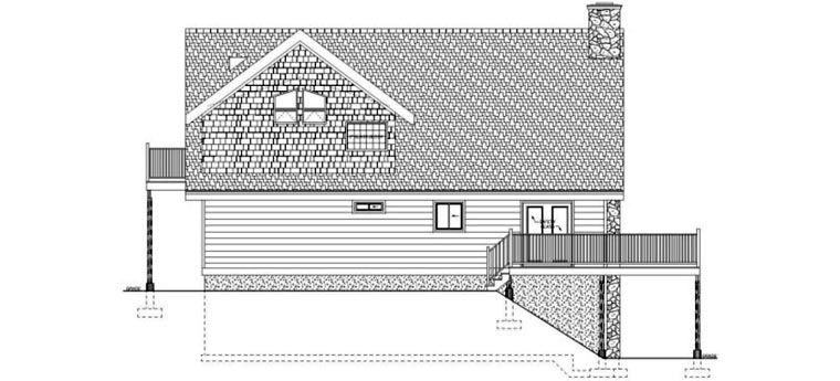 House Plan 99961 | A-Frame Plan with 1915 Sq. Ft., 3 Bedrooms, 2 Bathrooms