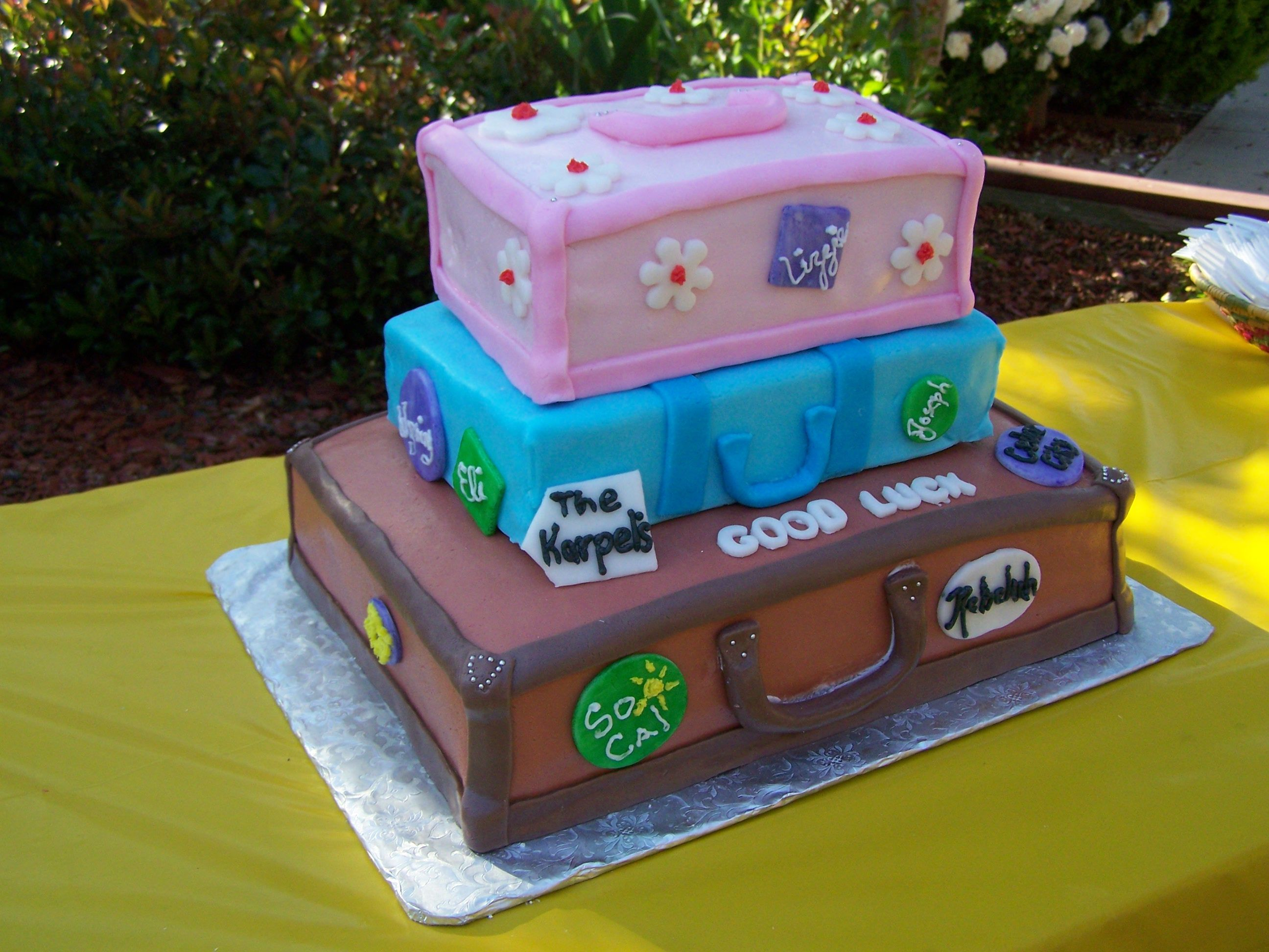 Suitcase Cake Going Away Party Ideas