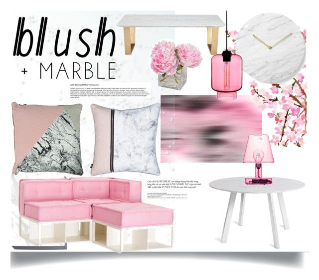 """""""Blush & Marble"""" by jeneric2015 ❤ liked on Polyvore featuring interior, interiors, interior design, home, home decor, interior decorating, Art Addiction, Blu Dot, Menu and PBteen"""